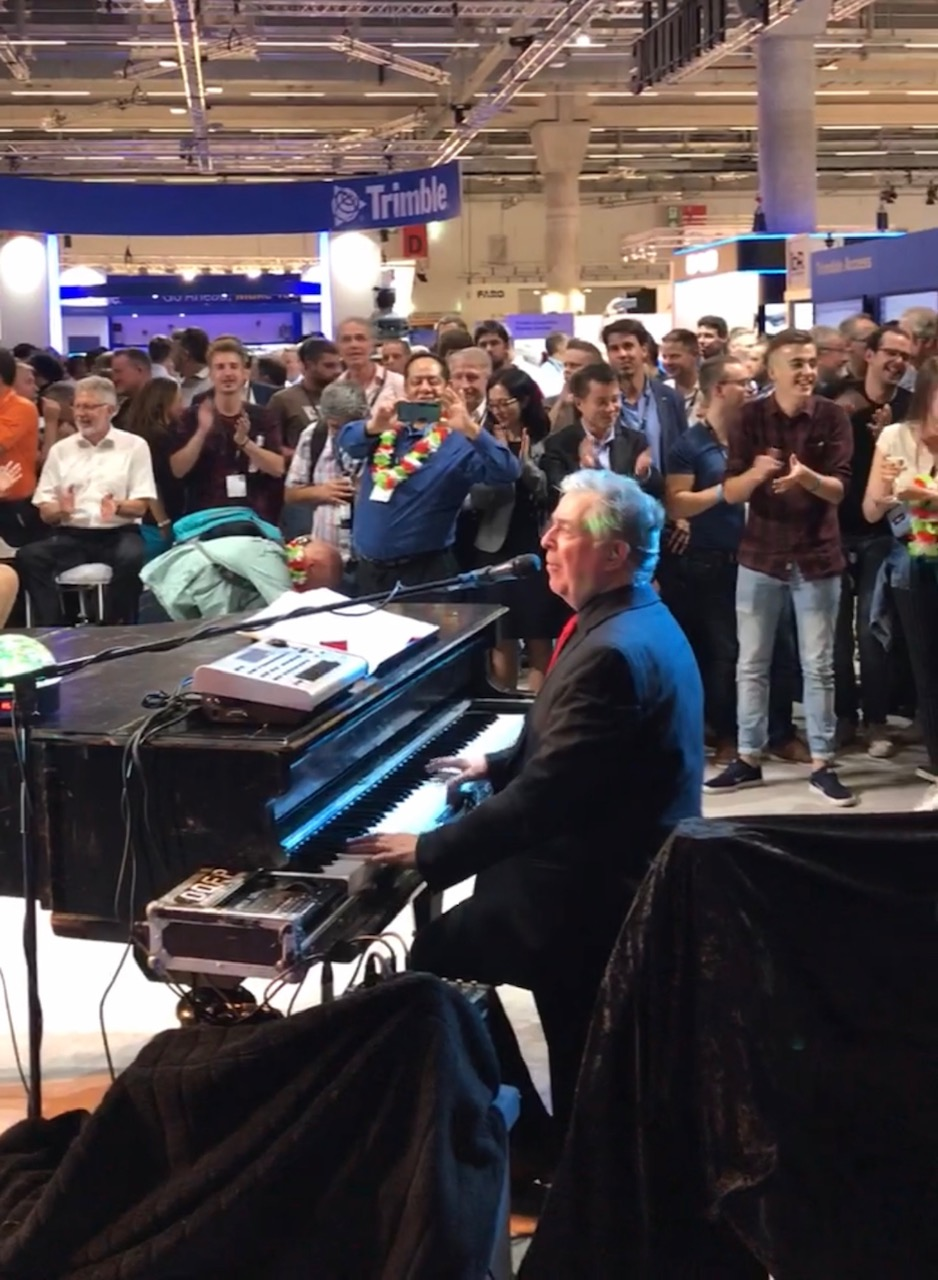 Trimble Booth INTERGEO Piano Player
