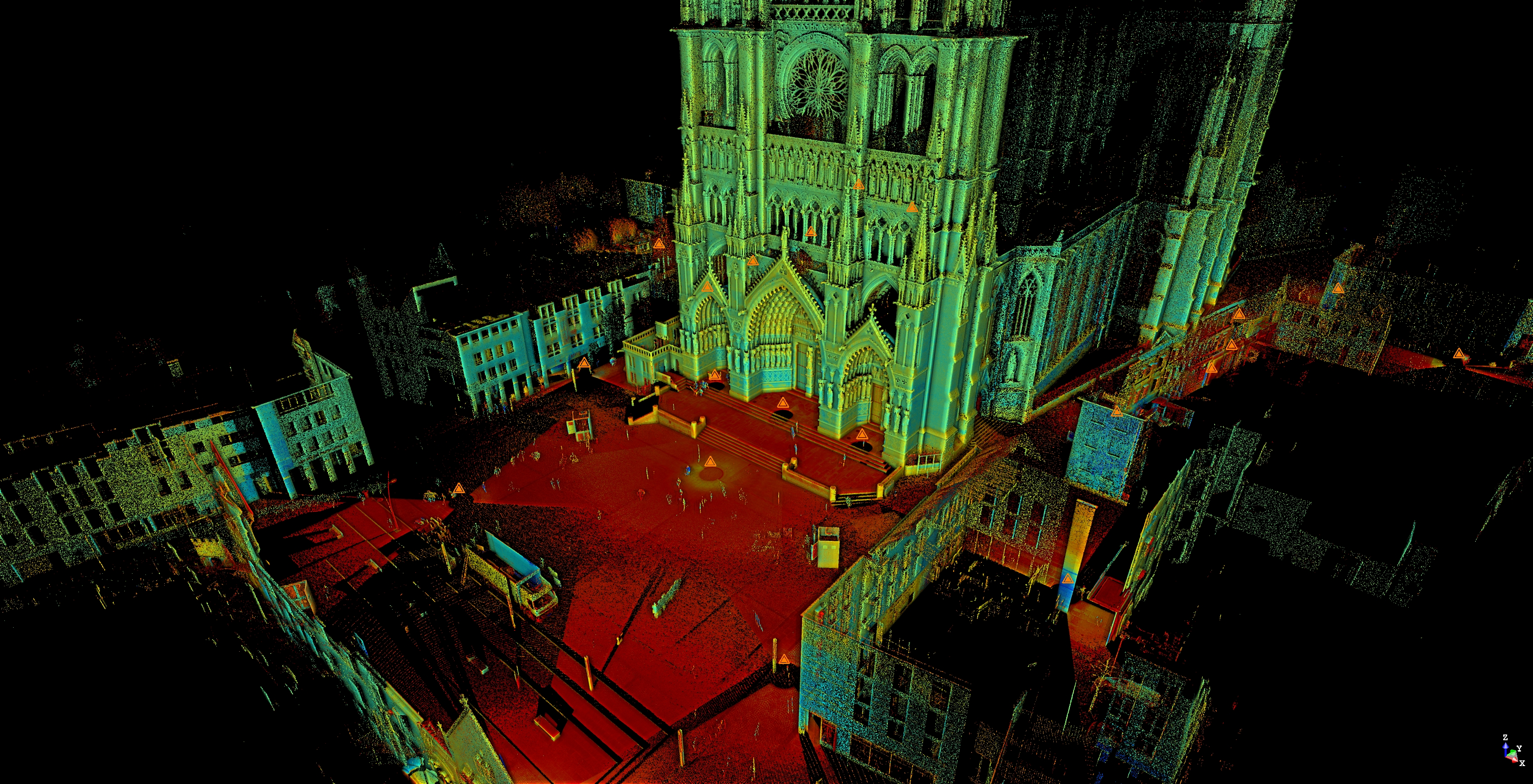 Notre Dame Cathedral Amiens France 3D Point Cloud