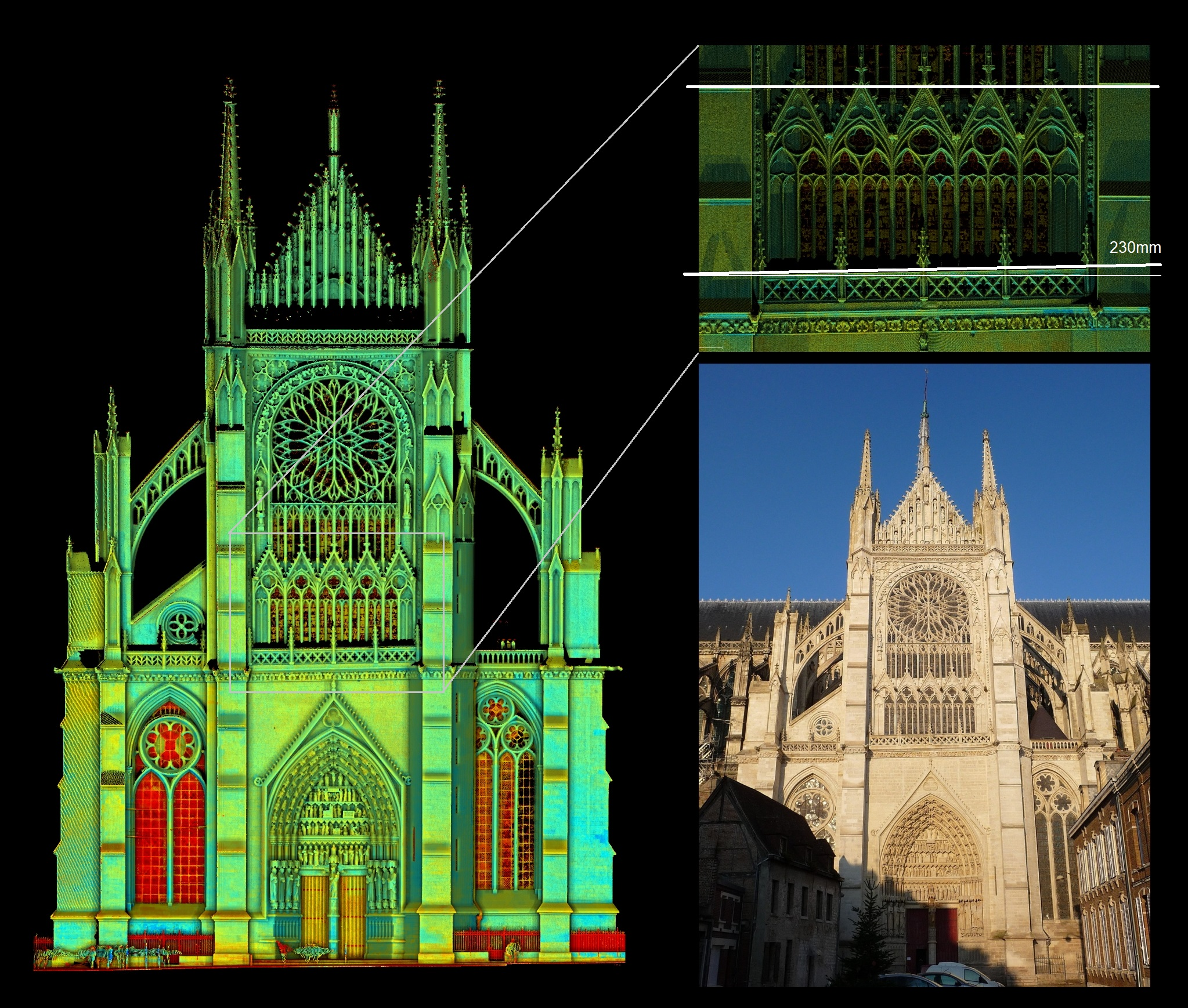 Notre Dame Cathedral Amiens France Trimble 3D Laser Scan