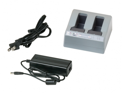 Dual Battery Charger with Power Supply & Cord